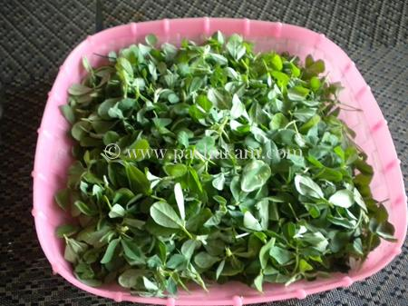 Step 1 Aaloo Methi Recipe