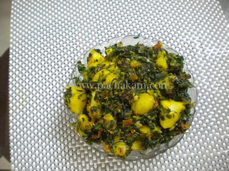 Step 4 Aaloo Methi Recipe