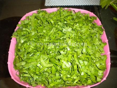 Step 2 Aaloo Palak Fry Recipe
