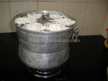 Step 6 Idiyappam(Nool Puttu) Recipe