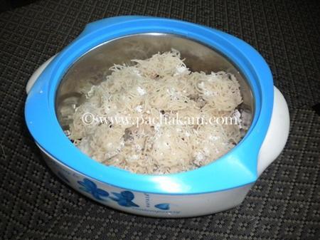 Step 7 Idiyappam(Nool Puttu) Recipe
