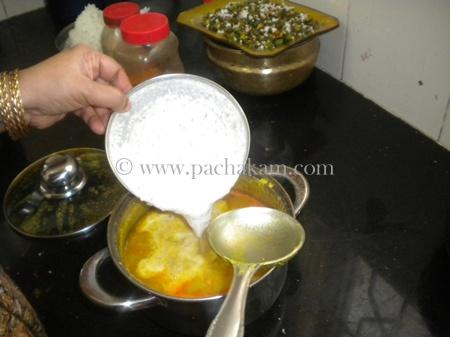 Step 8 Papaya With Toor Dal Curry Recipe